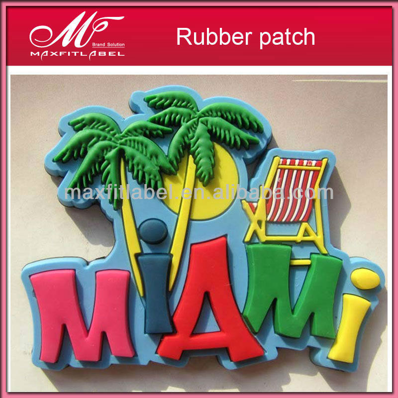 adhesive directly factory low price high quality embossed soft PVC eco-friendly clothing badge iron on rubber patches