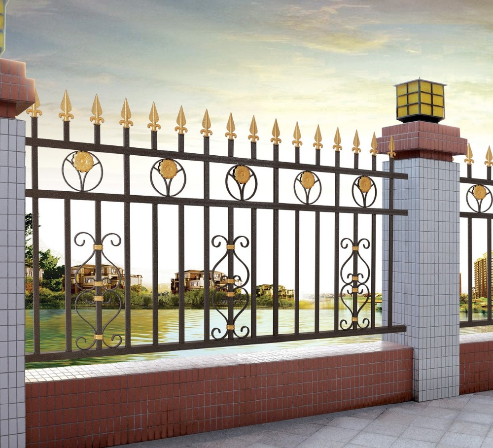 Latest Modern Cast Aluminum Fence/decorative Metal Garden Fence/philippines  Gates And Fences - Buy Philippines Gates And Fences,Aluminum Fence,Metal