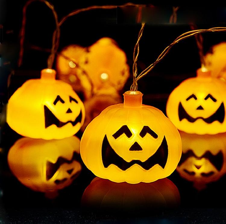 Led Halloween Paper Pumpkin Lantern Light Party Decoration Hanging