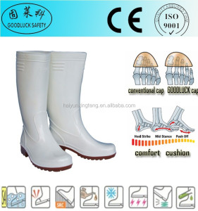 miner workers long style men pvc safety rigger boots