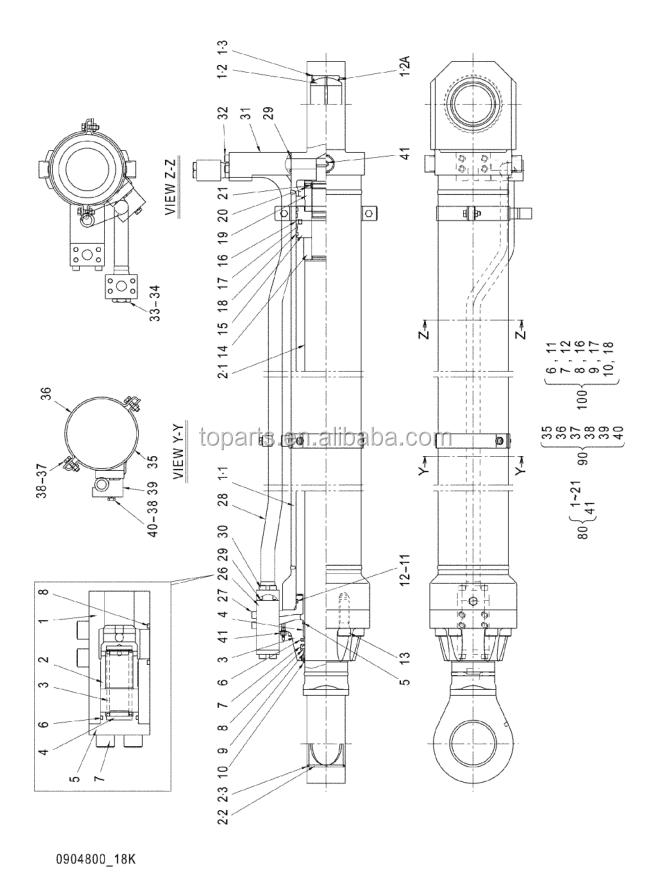 Hydraulic Boom Joint : Hitachi ex excavator hydraulic boom cylinder seal kit