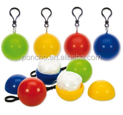 Promotional poncho in ball, ball poncho