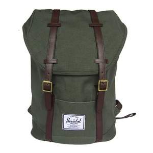 HIBO custom made heavy duty canvas backpack