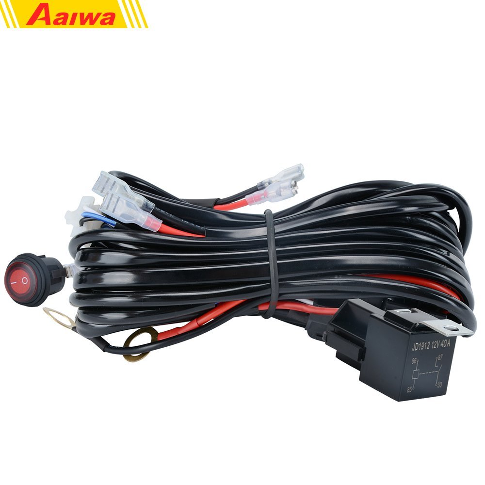 Cheap Off Road Light Wiring Harness Find Led Get Quotations Harnessaaiwa 12v 500w Heavy Duty Kit On Switch Power Relay