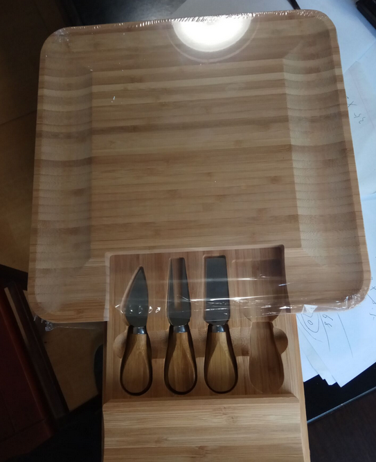 cheese knife sets case with board