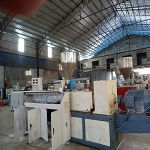 Used/recycled double/twin screw pvc/pp/hdpe/pc/abs granules extruder machine for sale