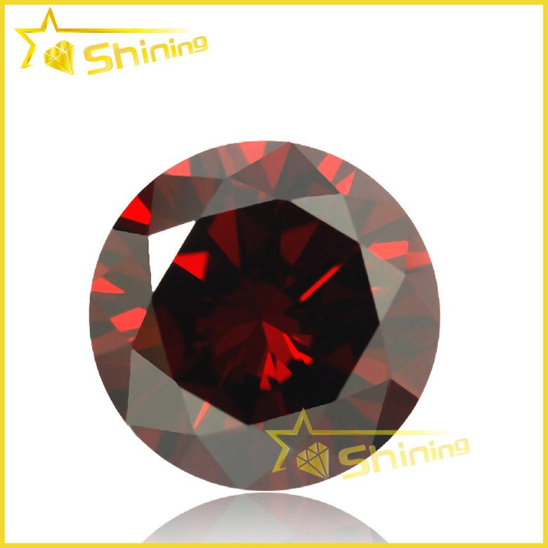 2017 New Style European Machine Cut CZ Garnet Loose Cubic Zirconia <strong>Stones</strong>