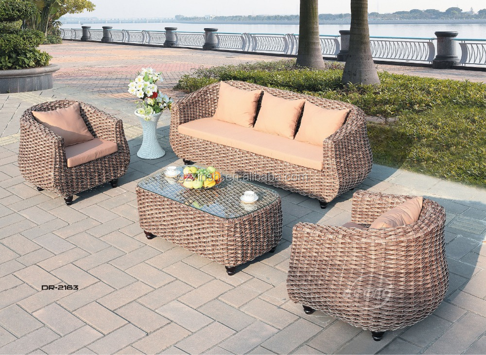 Outdoor Taobao Plastic Garden Sofa Simple Design Rattan/wicke Sofa Set Garden  Furniture With Waterproof Part 22