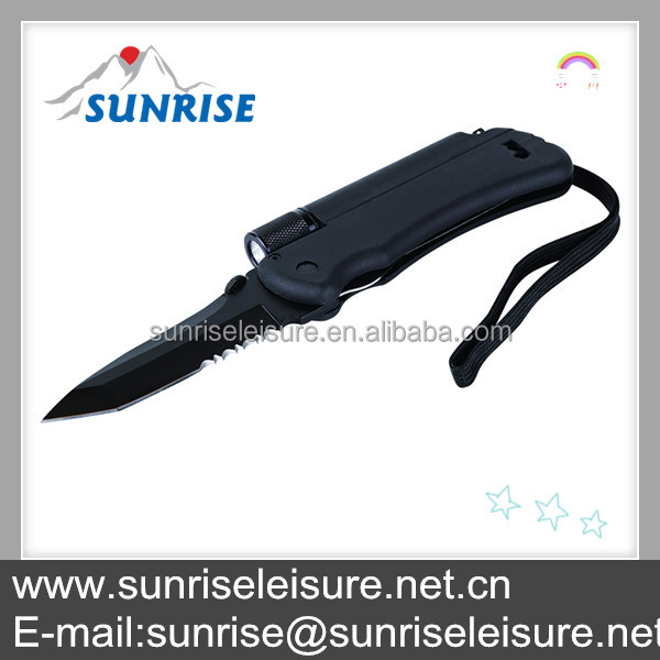 83028#multifuctional caming tool hunting handle folding pocket knife