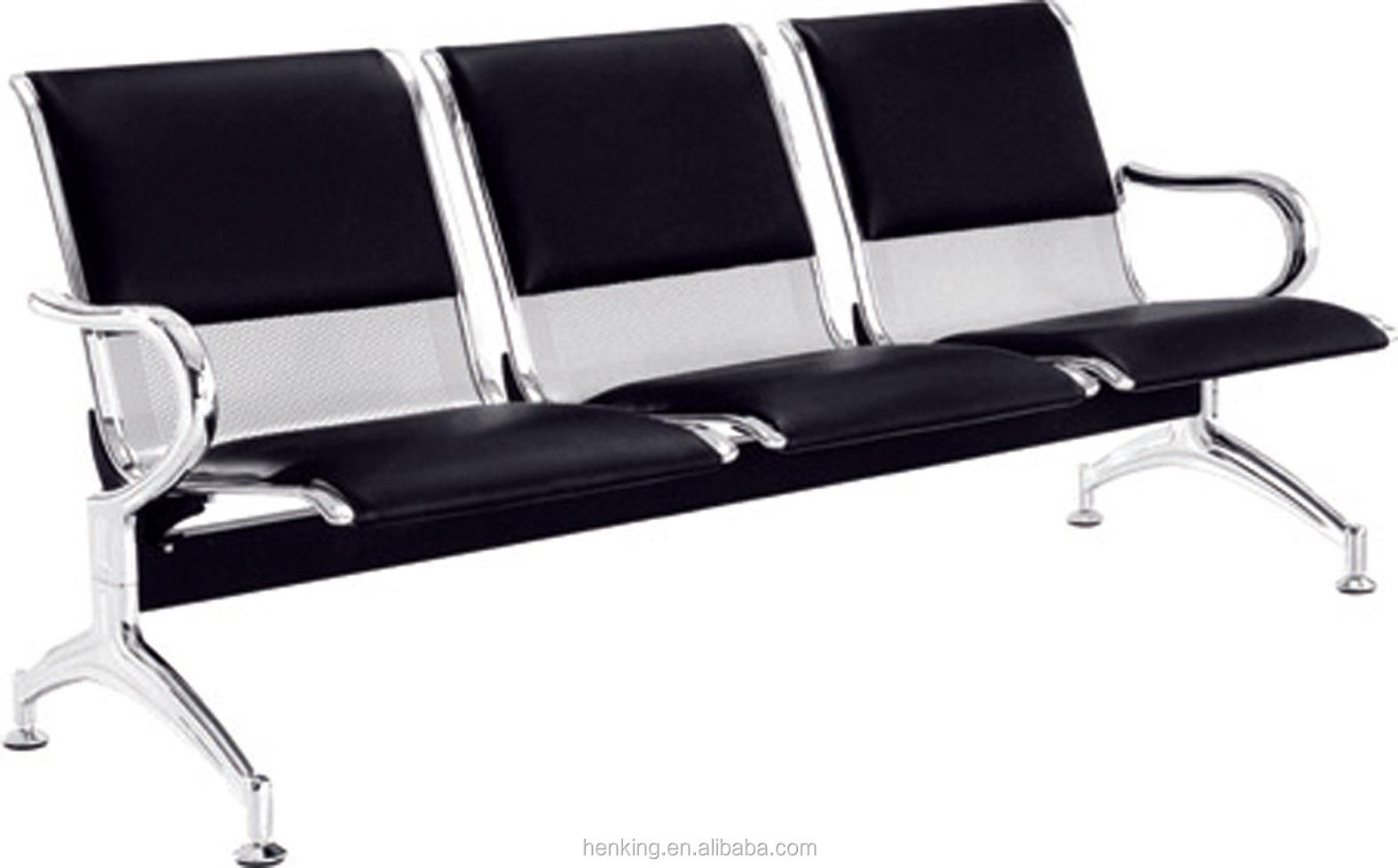 Vintage Industrial Metal Chair H303 3 Metal Airport Chair