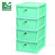 Useful and color plastic storage drawer cabinet organizer for all rooms.