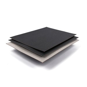 SGS qualified laminated thick black board with grey back in hot sales
