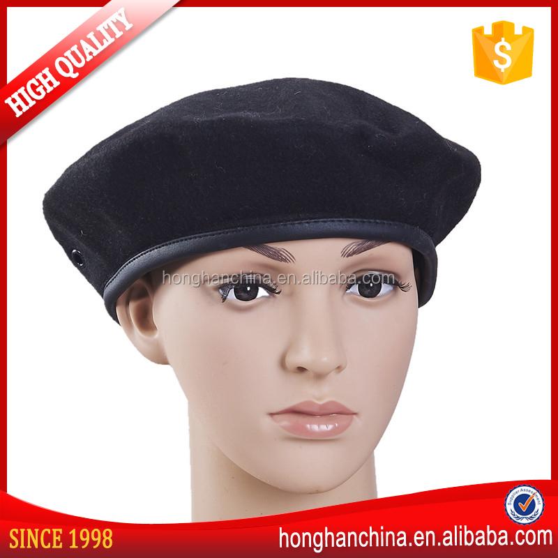 e4f24f2fe0331 Boinas Militares de poliéster Preto Para Os Homens-Outros chapéus-ID ...