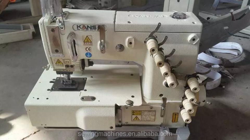 GOOD CONDITION USED 1404P 4-NEEDLE FLAT-BED DOUBLE CHAIN STITCH KANSAI SPECIAL SEWING MACHINE