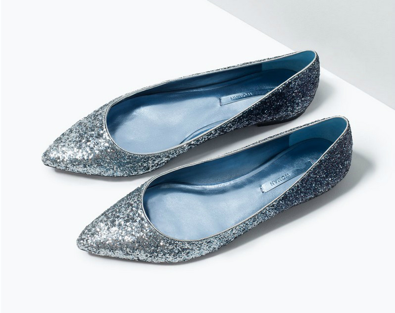 817b5917747a Spring New Fancy Woman Flats Glitter Pointed Toes Shoes Blue Gold White  Black Colorful Gradient .