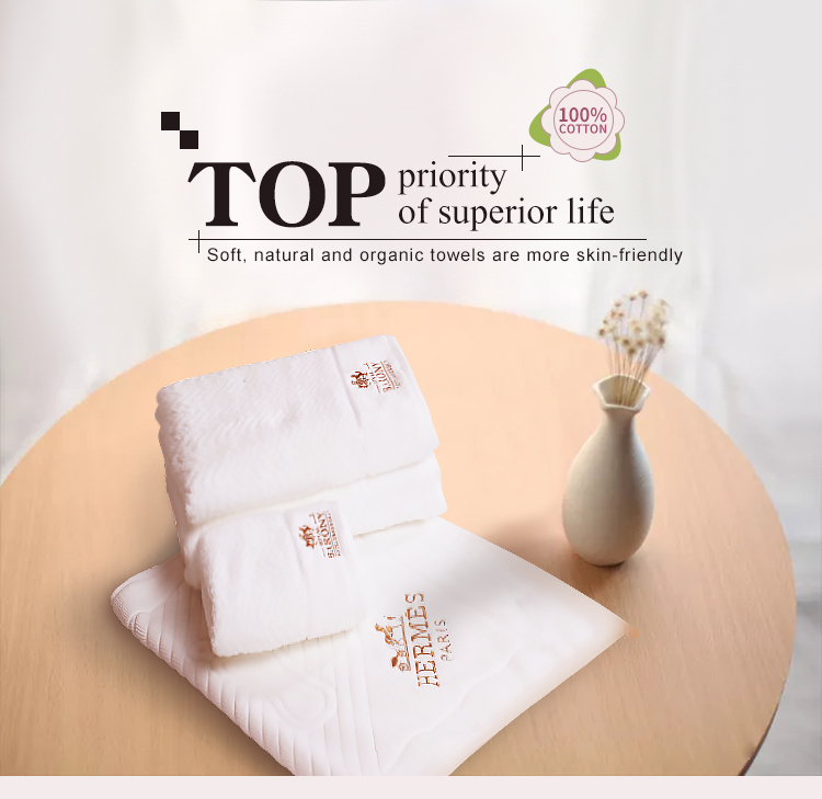 Environmental Pollution Free Bamboo Face Towel For Five Star Hotel Towel
