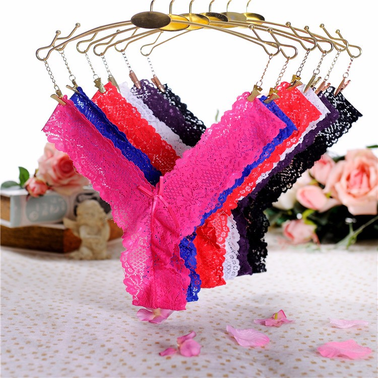 63ed3ea0b32 Women G-String High Quality Panties Sexy Tong Underwear Lace Tangas Sexy  Transparent Thong Culotte