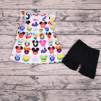 Sue Lucky girls boutique clothing kinds of cute pattern clothes girls fashion summer clothing
