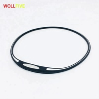 Anion Balance Stainless Steel Magnetic Buckle Sport Silicone Necklace