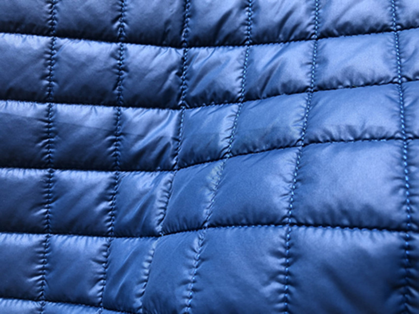 Nylon  Quilted Padding Filling Fabric/  300t nylon taffeta quilted padding with square design/