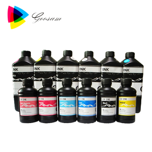 fluorescent photo id cards printing uv curing ink for EPSON led uv printer digital ceramic ink glitter printing inks