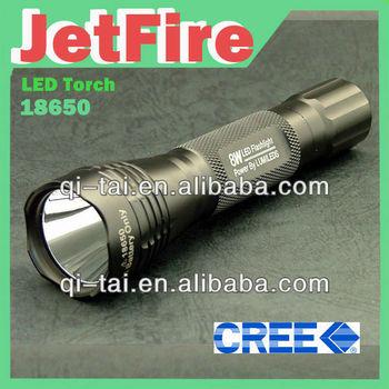 Jetfire Cree Q5 Led,18650 Lampu Suluh Led