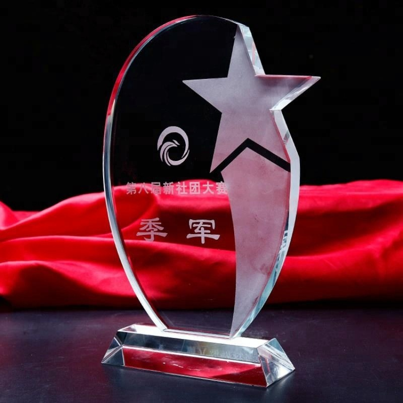 Yiwu Wholesale Cheaper K9 Crystal Glass awards and trophies