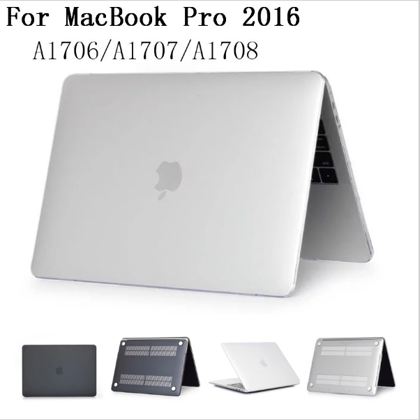 Clear Matte rubberized Hard Case Laptop Sleeve Case Cover For New MacBook Pro retina 13 15 2016 2017 with touch Bar 2in1 Shell