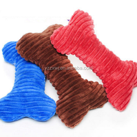 free sample plush dog bone chew toy Soft Touch Plush Bone Squeaky plush bone shape dog toys