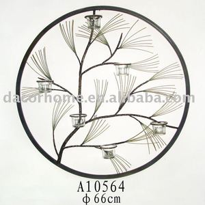 2012EXQUISITE-DISIGN SELL WELL-Pin tree branches handcraft metal candle holders