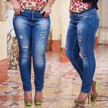 0f39c9576bb67 Marca logos diseño nuevo modelo niñas sexy tamaño libre caliente Jeans para  damas