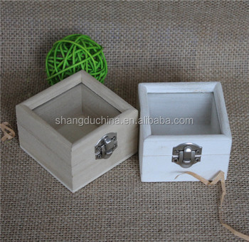 Small Handmade Wooden Keepsake Box With Clear Lid