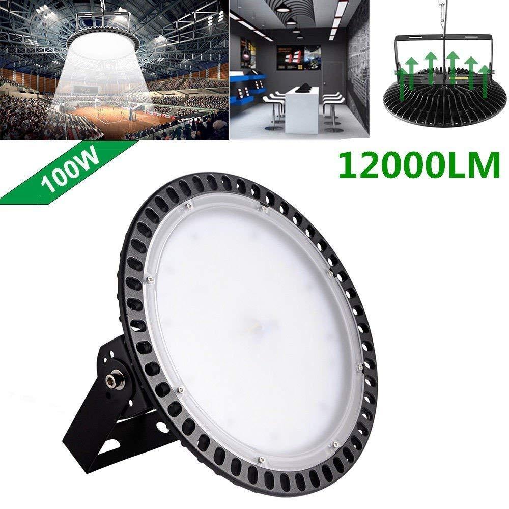 100w,200w,300w UFO LED High Bay Lighting, Getseason,6000-6500K,IP54,Waterproof Dust Proof, Warehouse LED Lights- LED High Bay Lighting - High Bay LED Lights (100)
