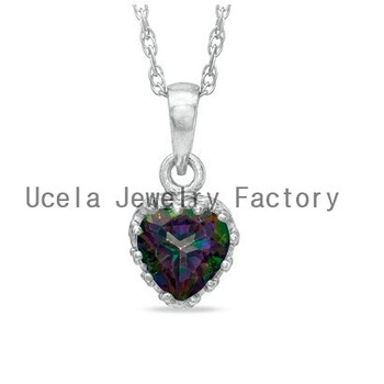 Sterling Silver Heart-Shaped Rainbow Quartz Crown Pendant Necklace gaudy large costume jewelry  sc 1 st  Alibaba & Sterling Silver Heart-shaped Rainbow Quartz Crown Pendant Necklace ...