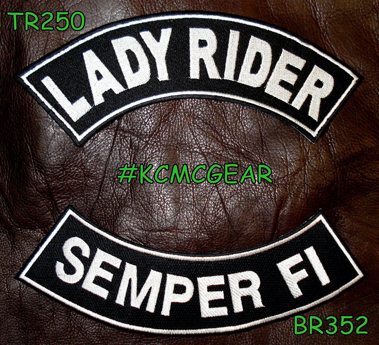 SEMPER FI US MARINES Rocker Patches Set for Biker Vest
