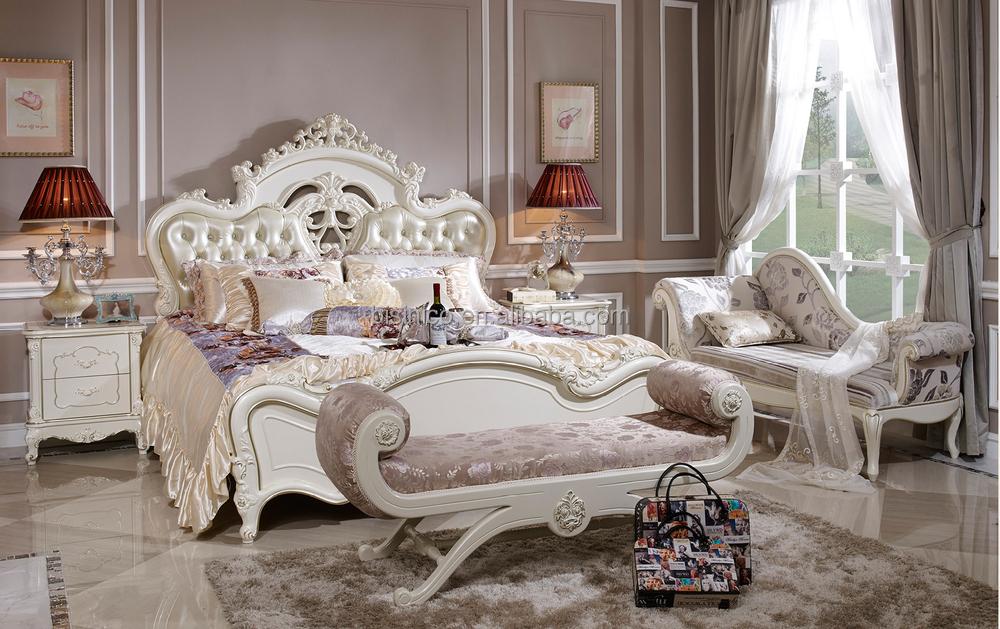 Bisini Classic White Luxury Bedroom Set Home Furniture