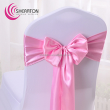 Nantong wholesale factory supply wedding satin Chair sash / damask chair cover decoration for banquet party in cheap price