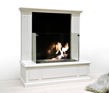 Bio Ethanol Freestanding Indoor Wood Gl Fireplace