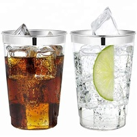 Easy Party Decor Crystal 10 oz Gold Plastic Tumblers