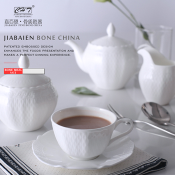 Modern Luxury 5pcs Fine Bone China Coffee Set Service For 1 Porcelain Product On Alibaba