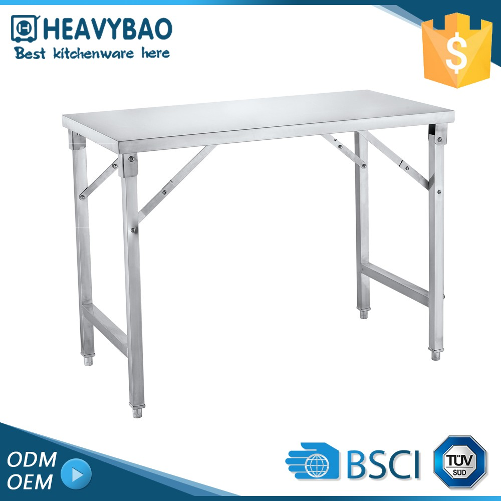 High-end Stainless Steel Knocked-down Foshan Metal Folding Table For Small Kitchen