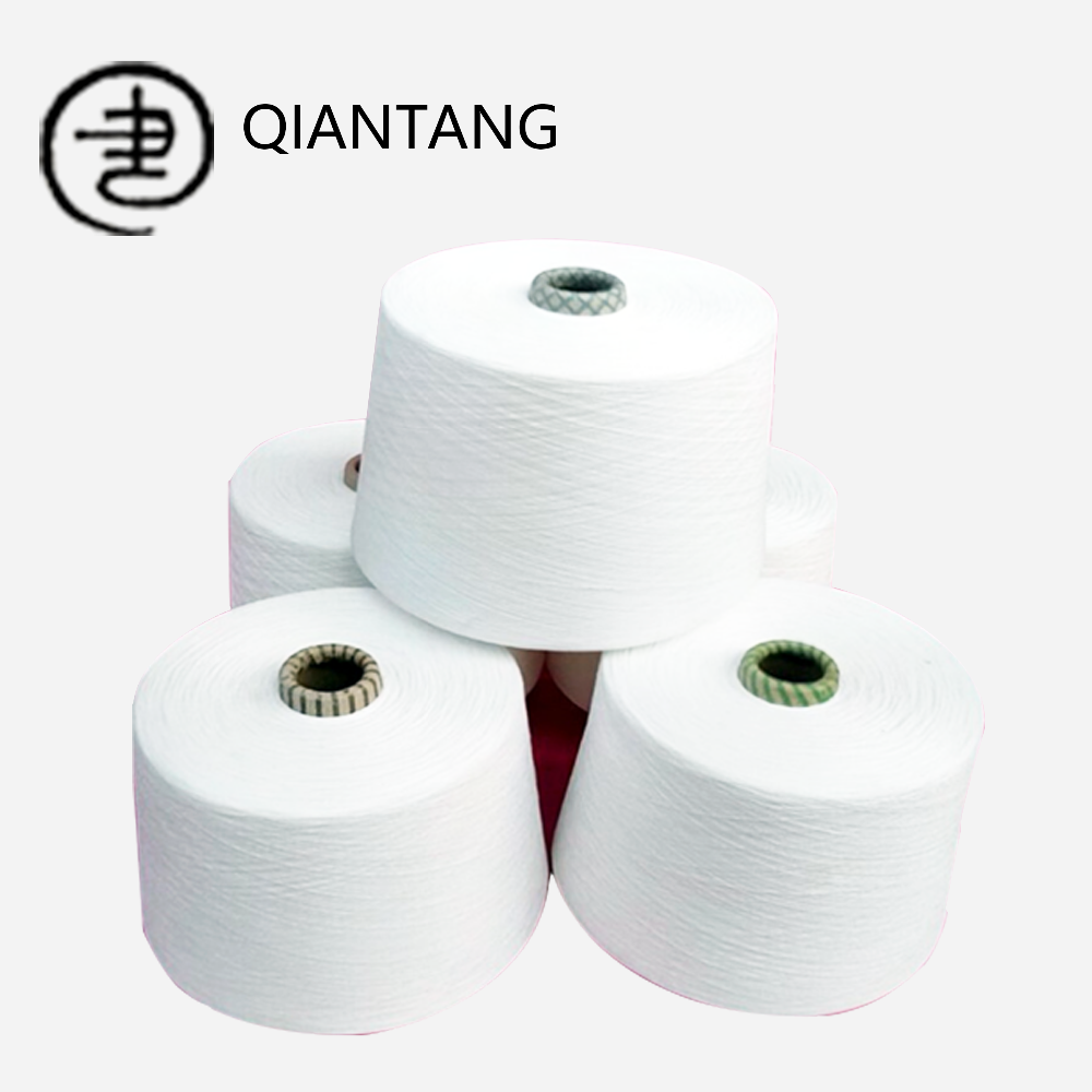 100% spun polyester yarn manufacturer in china polyester spun yarn 20/1 30/1 40/ 1 polyester ring spun yarn