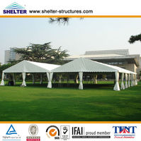 Shanghai Shelter Aluminum PVC move tent long life span tent for outdoor events, parties, weddings