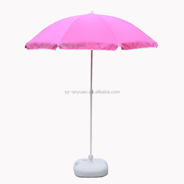 Household Sundries Bright Colored Pink Outdoor Umbrella Parasol For Beach