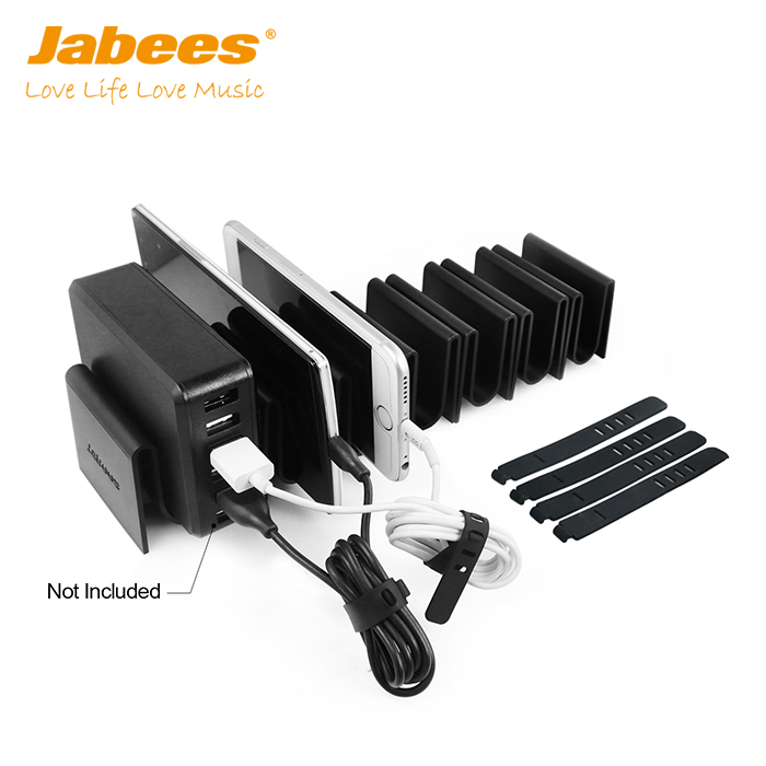 2017 Jabees High Quality UL QC 2.0 Multi Charger Phone Charging Station Organizer