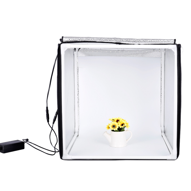60CM Folding Photo Box Studio Photography Light Tent 48W CRI92 Light box for Jewelry Toy Product Shooting