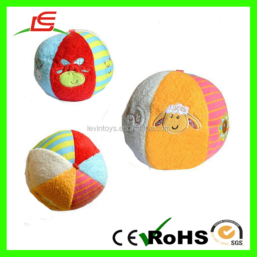 High Quality Hot Sell Super Soft Colorful Plush Ball For Kids Toy