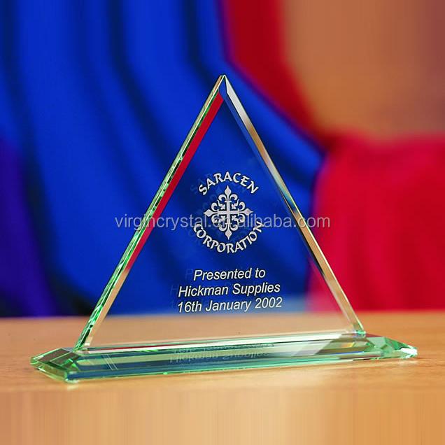 Exquisite Hot Sale Laser Engraved Crystal Octangle Shape Awards ...