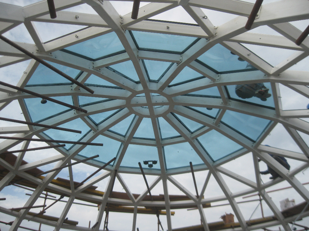 Beautiful Design Dome Steel Structure Glass Roofing Cover