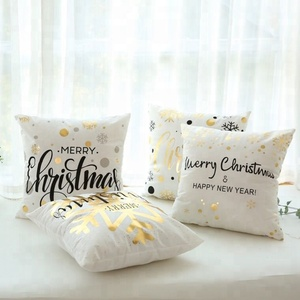 2018 latest christmas design printing cushion pillow cover